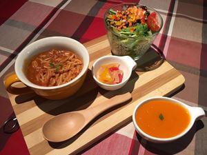 Brown Paste + Salad + Soup