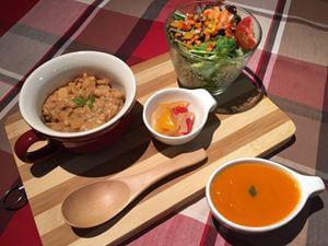 Brown Ricotto + Salad + Soup